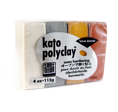 Kato Polyclay - Set 4x28grs - Colores Metalicos