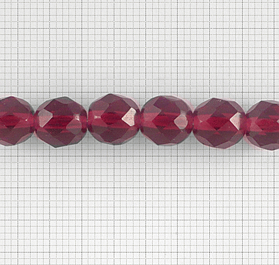 Bola Facetada 8mm - Cristal Checo - Ruby